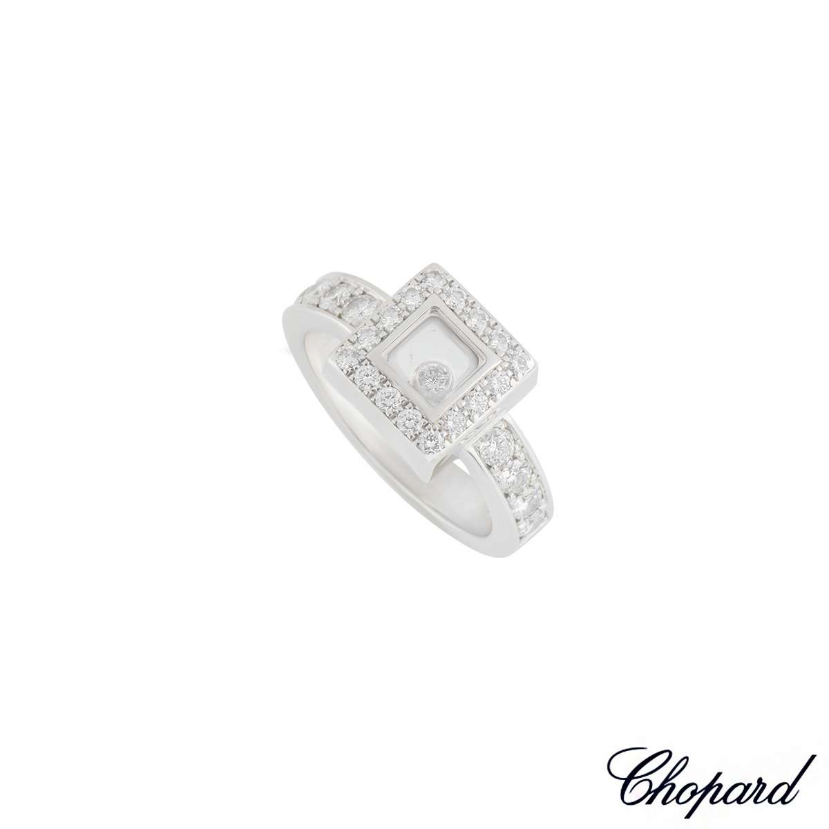 Chopard 18k Happy Square Ring 82/12939-20